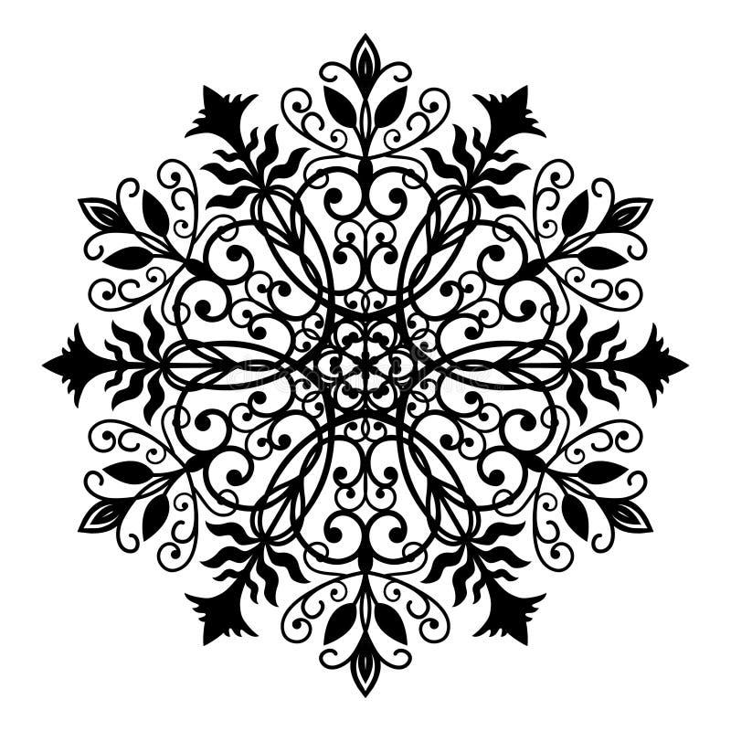 Blumen geschmiedet ringsum Verzierung vektor abbildung