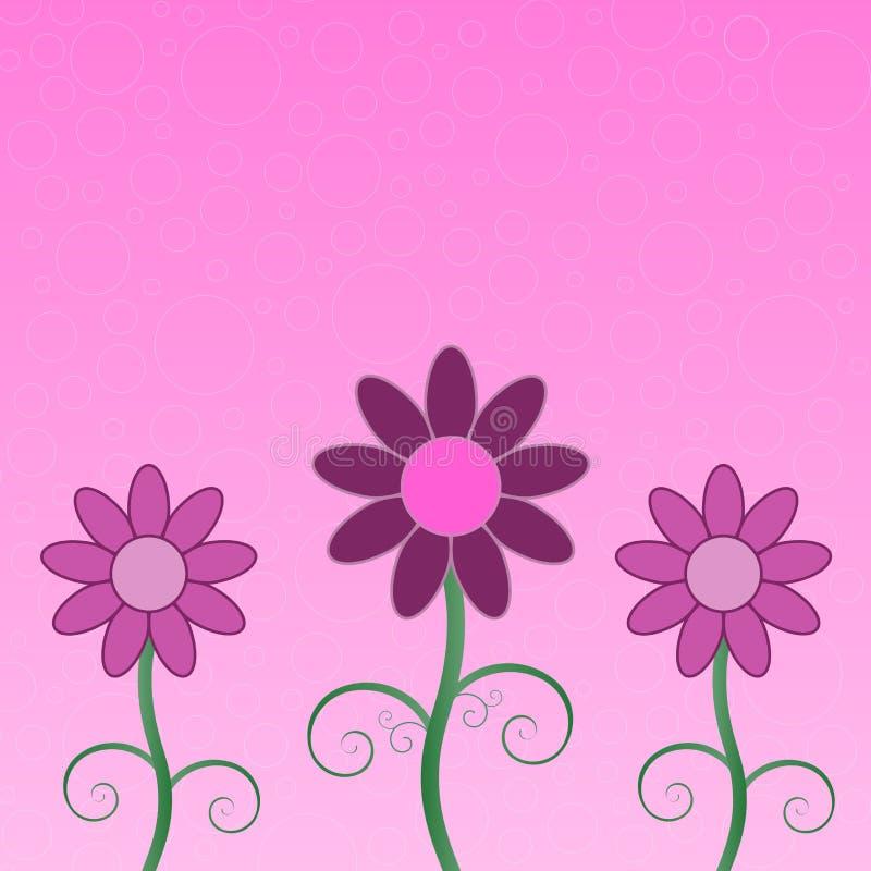 Blumen-Gruß-Karte lizenzfreie abbildung