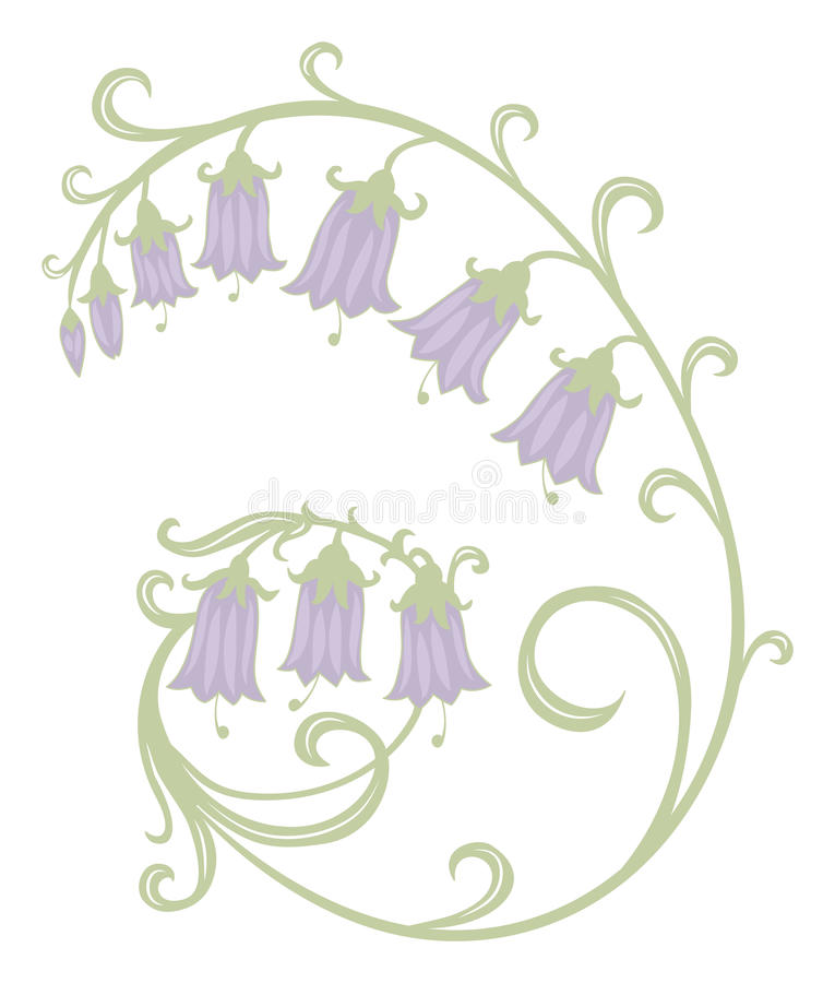 Download Blumen Hand-lbells vektor abbildung. Illustration von flieder - 26351749