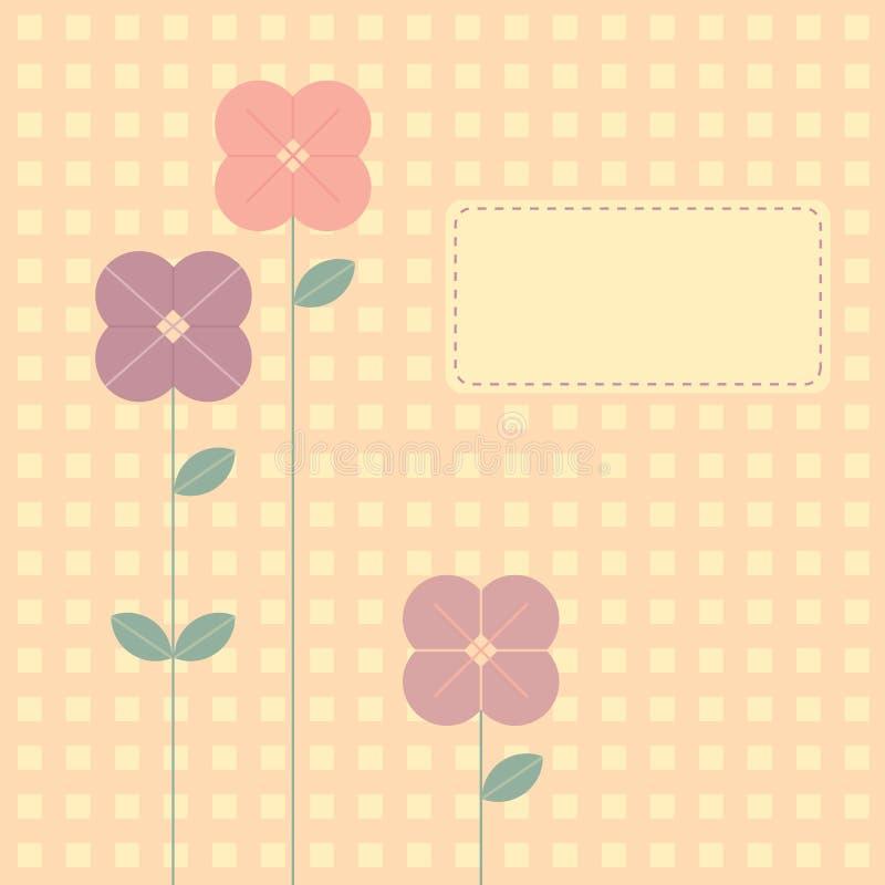 Blumen-Hintergrund lizenzfreie abbildung