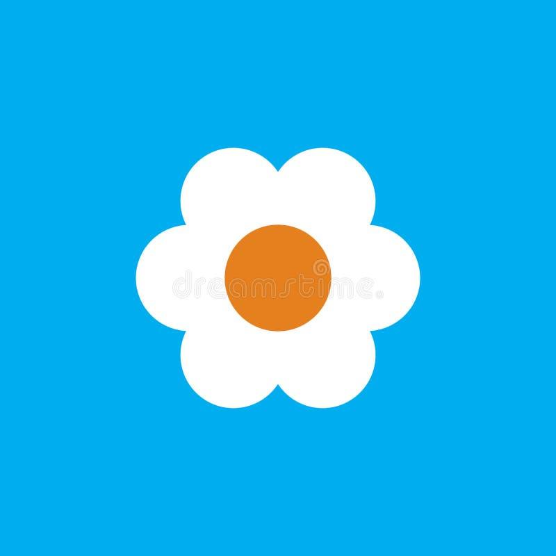 Blumen-Ikone in der modischen flachen Art lokalisiert auf blauem Hintergrund Frühlingssymbol für Ihr Websitedesign, Logo, APP, UI stock abbildung