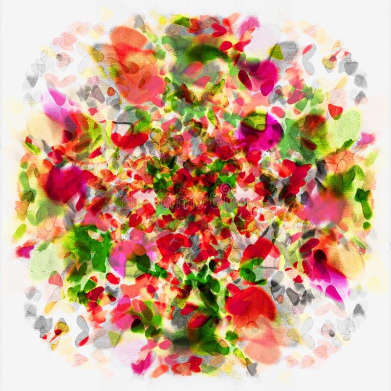 Blumen-Kunst-Auszug lizenzfreie abbildung