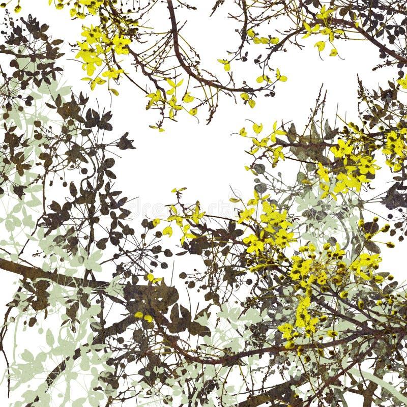 Blumen-Kunst-Digital-Anstrich-Hintergrund lizenzfreie abbildung