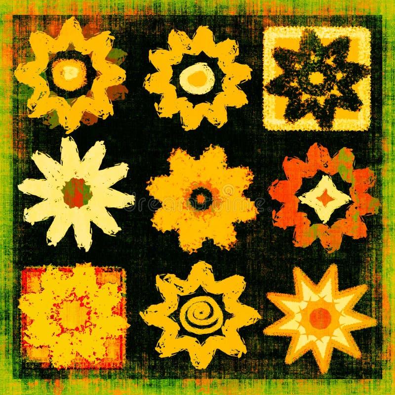 Blumen-Leistung-Knall-Kunst Grunge vektor abbildung