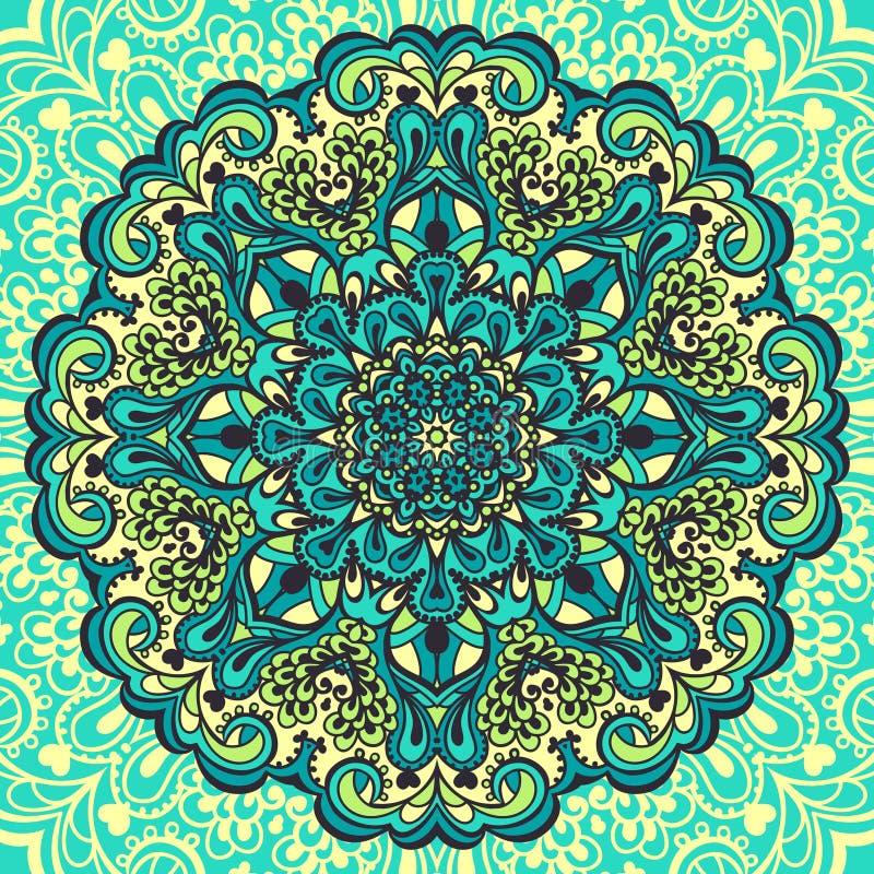 Blumen-Mandala. Abstraktes Element für Design vektor abbildung