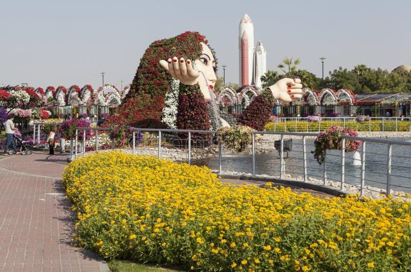 Blumen-Park in Dubai (Dubai-Wunder-Garten) United Arab Emirates stockfoto