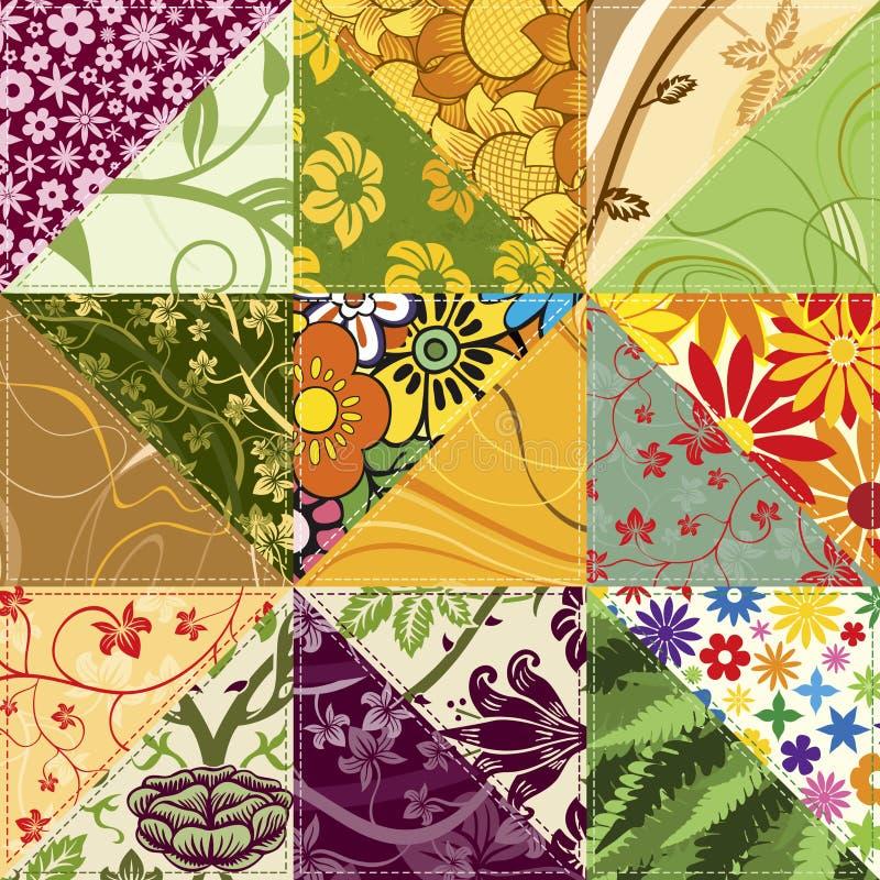 Blumen-Patchwork lizenzfreie abbildung