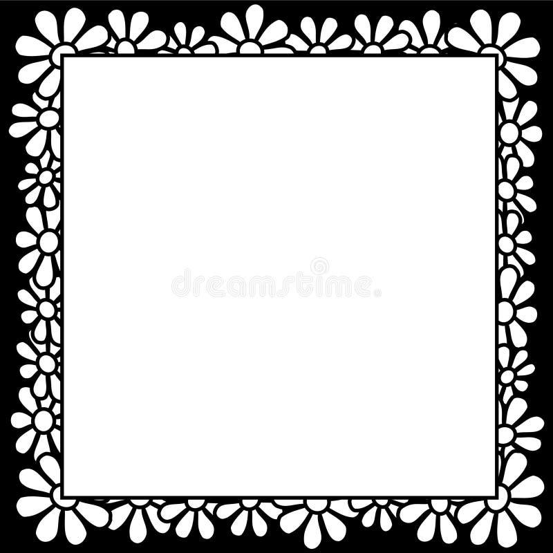 Blumen - Rand lizenzfreie abbildung