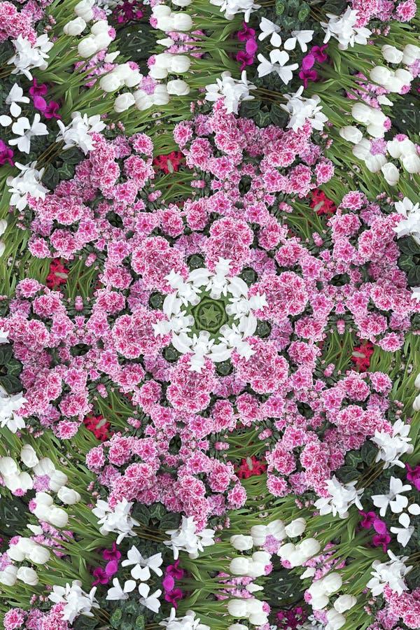 Blumen-Schneeflocke lizenzfreie abbildung
