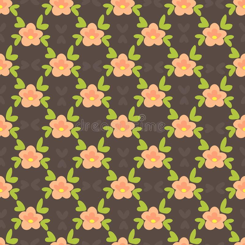 Blumen-seamless-25 vektor abbildung