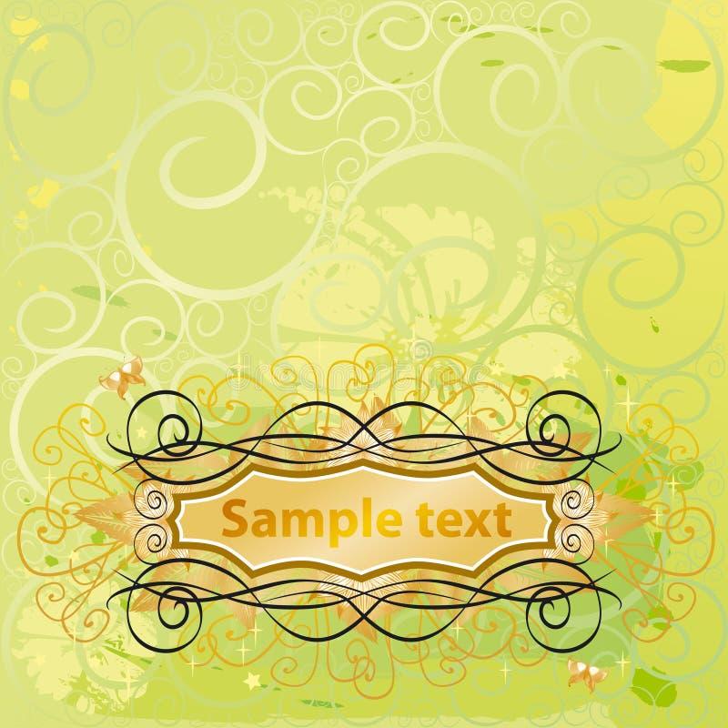 Blumen- u. Blumentext lizenzfreie abbildung