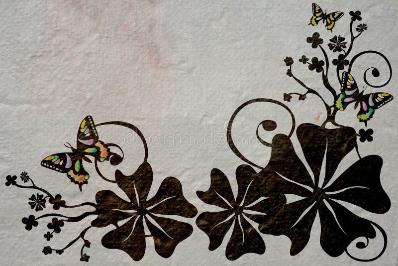 Blumen und Basisrecheneinheiten stock abbildung