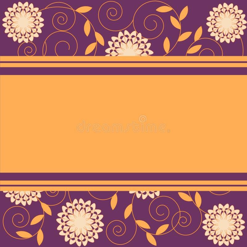 Blumen und Blätter lizenzfreie abbildung