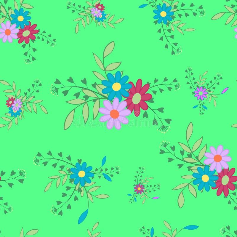Blumen- und Blatt5 Grün lizenzfreie abbildung
