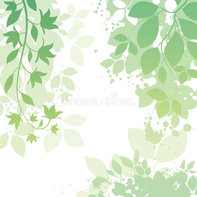 Blumen-und Blatt-Hintergrund lizenzfreie abbildung