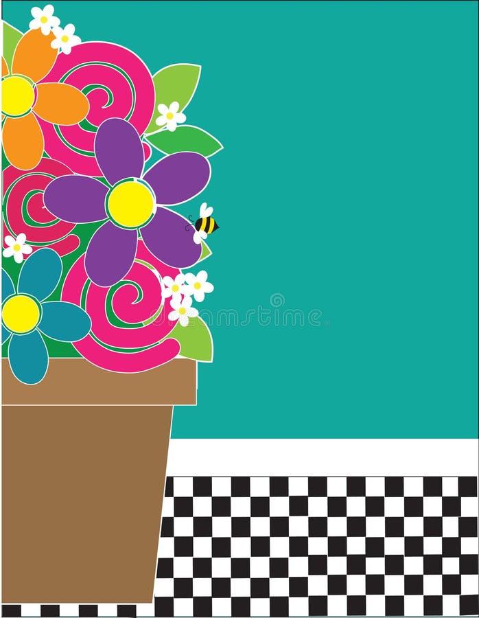 Blumen und Checks lizenzfreie abbildung