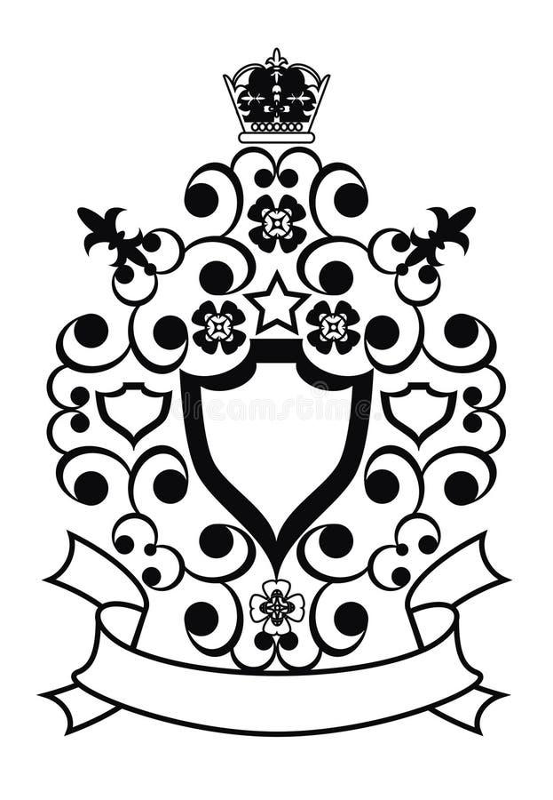 Blumen und Krone lizenzfreie abbildung