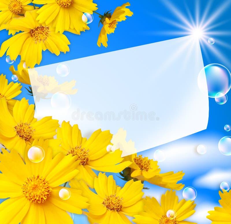 Blumen und Luftblasen lizenzfreie stockfotografie