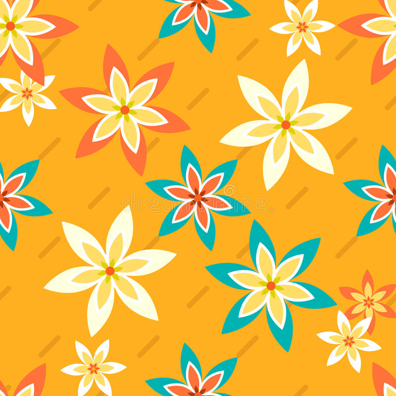 Blumen und Stripes2-01 stock abbildung