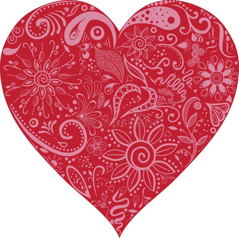 Blumen-Valentine Heart-Vektor lizenzfreie stockfotografie