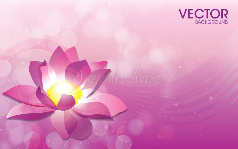 Blumen-Vektor-Hintergrund-Schablone vektor abbildung