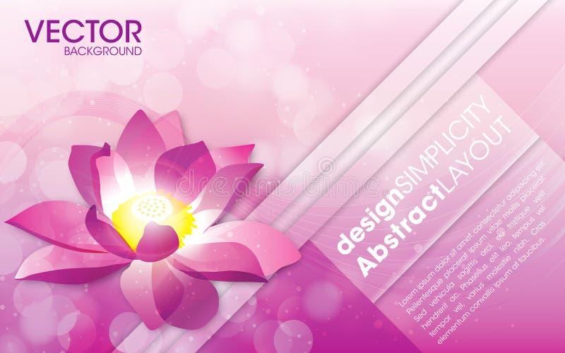 Blumen-Vektor-Hintergrund-Schablone lizenzfreie abbildung