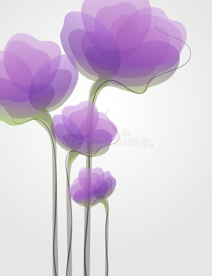 Blumen. Vektorabbildung. stock abbildung
