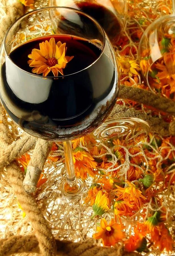 Blumen-Wein lizenzfreies stockbild