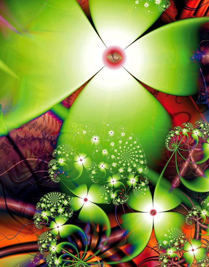 Download Blumen-Zusammenfassung III stock abbildung. Illustration von geometrisch - 96929572
