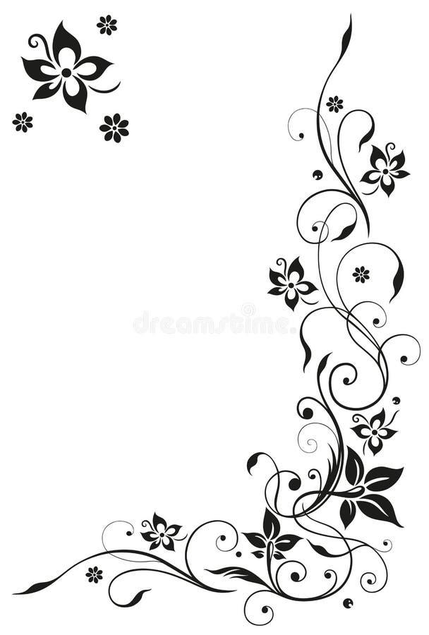 Blumen, Zusammenfassung, Rahmen vektor abbildung