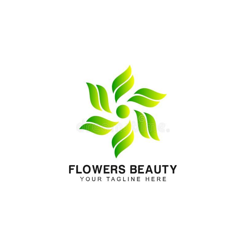 Blumen-Zusammenfassungs-Logo Design-Inspiration vektor abbildung