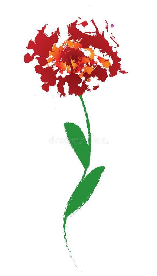 Blumenabbildung lizenzfreie stockfotos