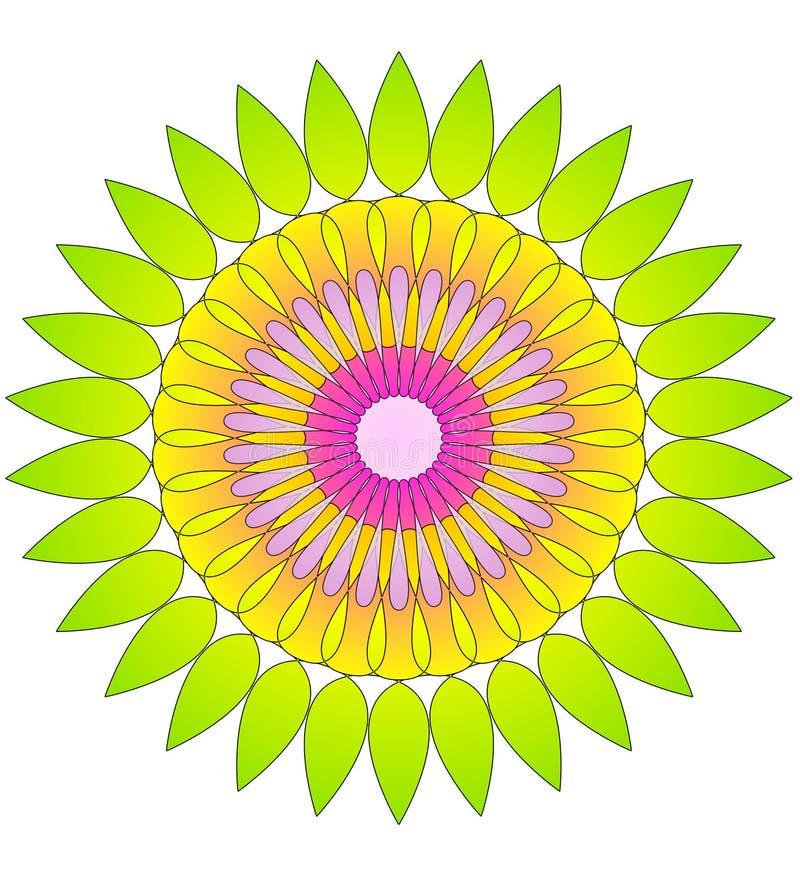Blumenabstraktes Kreismuster stock abbildung