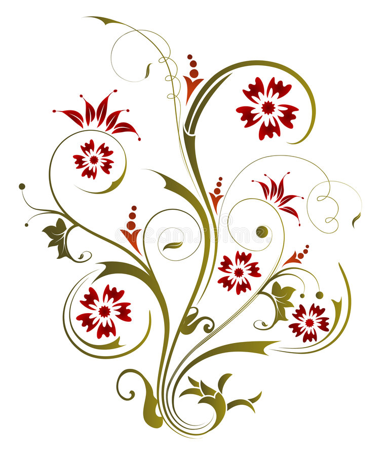 Blumenabstraktion stock abbildung