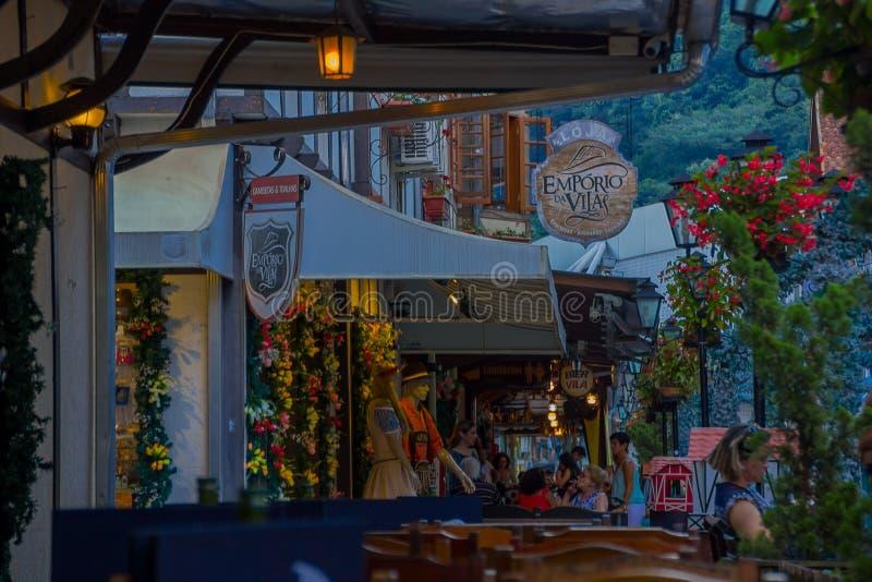BLUMENAU, BRASIL - 10 DE MAIO DE 2016: a cidade é famosa devido a seu centro da cidade alemão do estilo e o nome está na honra a  imagem de stock