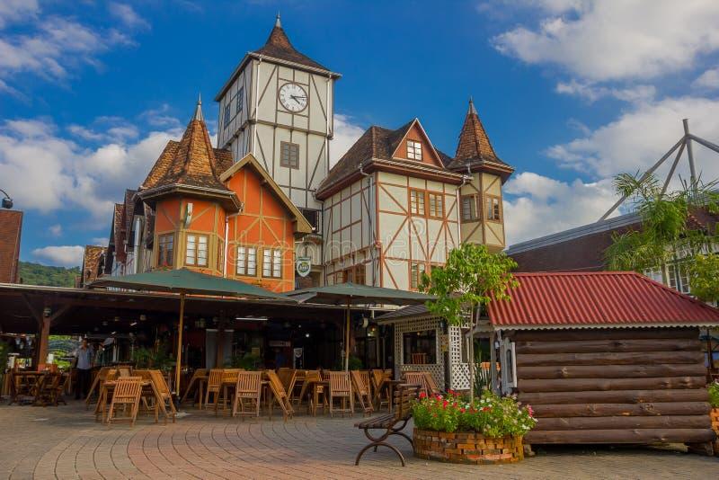 BLUMENAU, BRASIL - 10 DE MAIO DE 2016: cidade situada no estado brasileiro de Santa Catarina no sul de Brasil imagens de stock royalty free