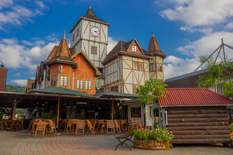 BLUMENAU, BRAZIL - MAY 10, 2016: city located in the brazilian state of santa catarina in the south of brazil.  royalty free stock images
