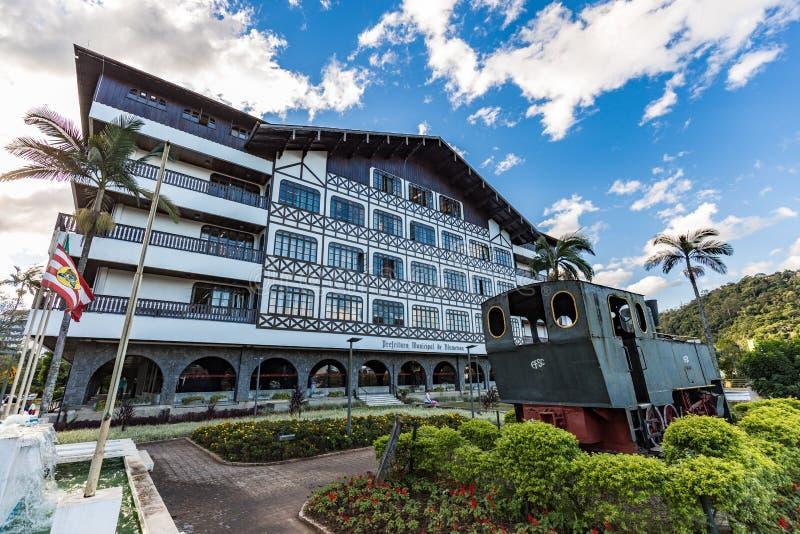Blumenau, casa da cidade imagem de stock royalty free
