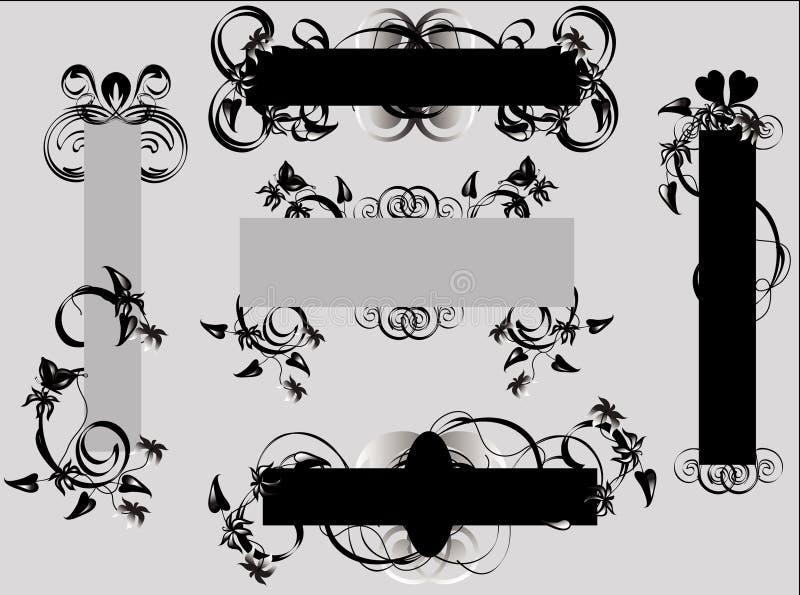 Blumenauslegung-Elemente lizenzfreie abbildung