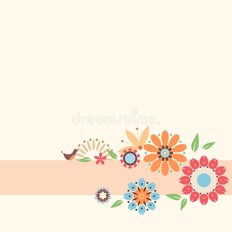 Blumenauslegung? Hintergrund, Hintergrund, Auslegung der Abbildung stock abbildung