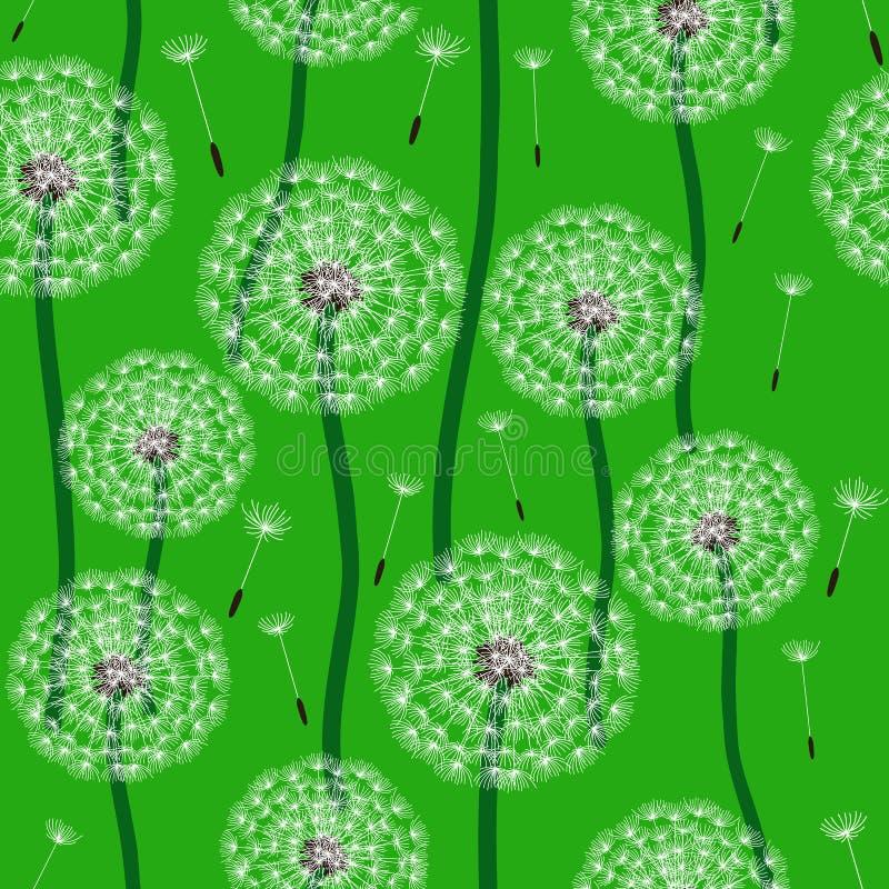 Blumenauslegung? Hintergrund, Hintergrund, Auslegung der Abbildung Löwenzahn lizenzfreie abbildung