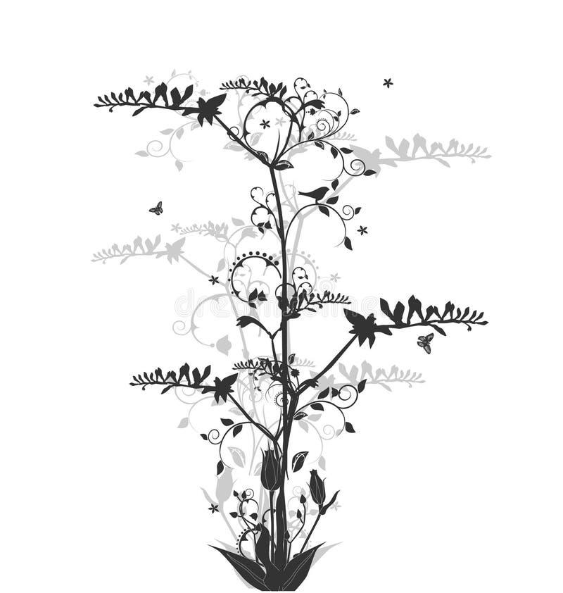Blumenauslegung mit Freesia und Rosen stock abbildung