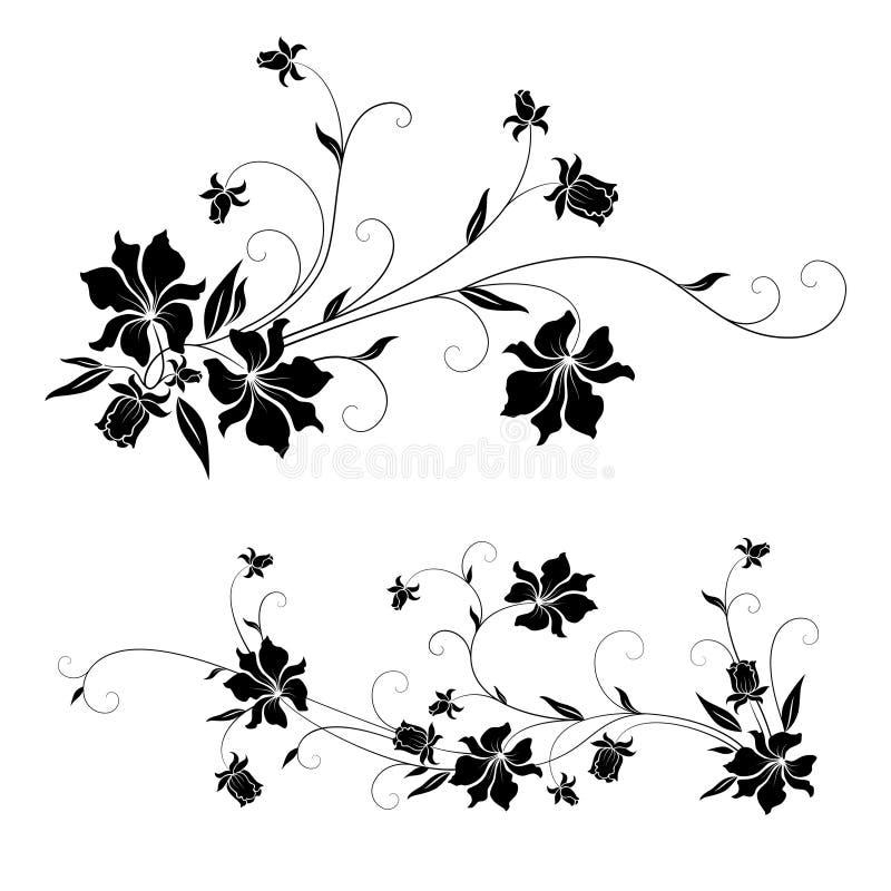 Blumenauslegungelemente stock abbildung