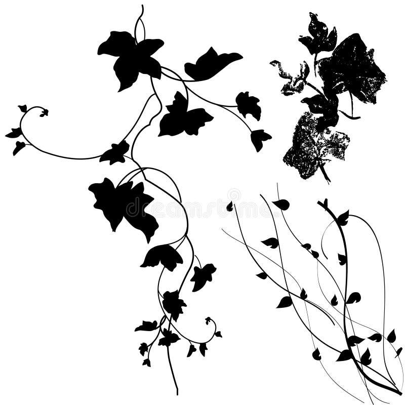 Blumenauslegungelemente lizenzfreie abbildung