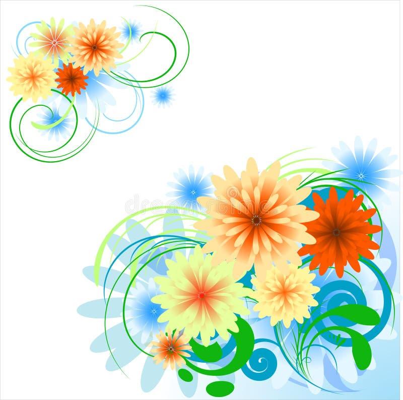 Blumenauslegungelemente, Ecke lizenzfreie abbildung