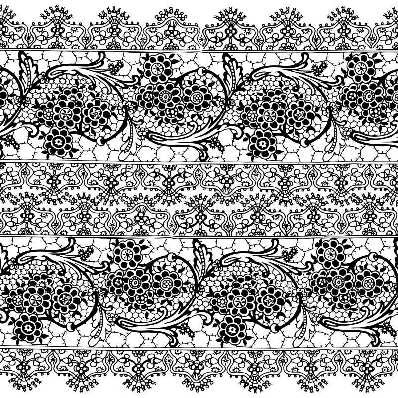 Blumenböhmischer Art-Zigeunerhintergrund vektor abbildung