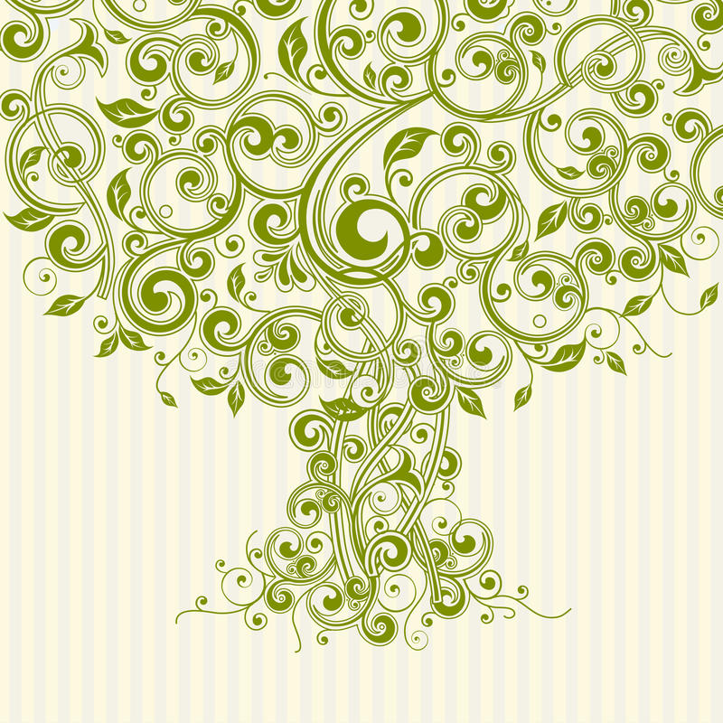 Blumenbaum lizenzfreie abbildung