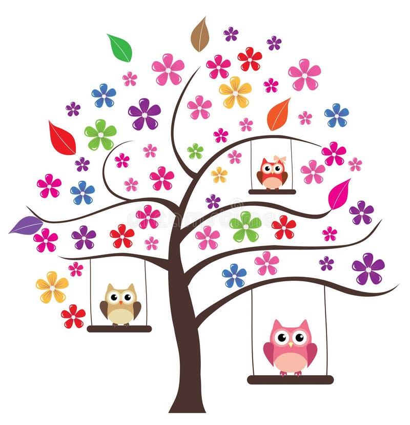Blumenbaum stock abbildung