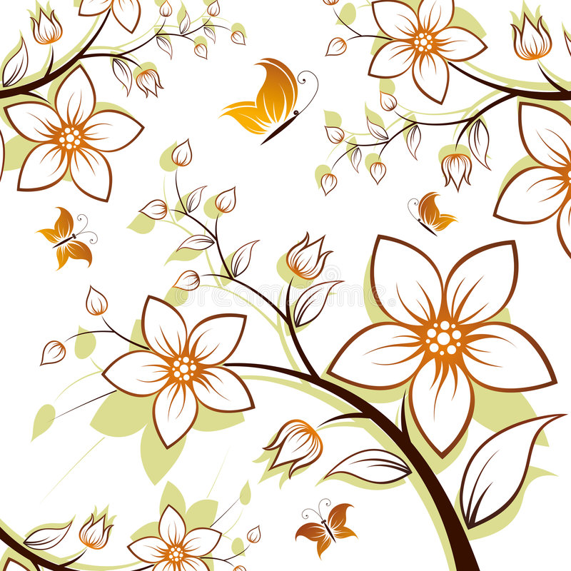 Download Blumenbaum vektor abbildung. Illustration von konzepte - 9079428