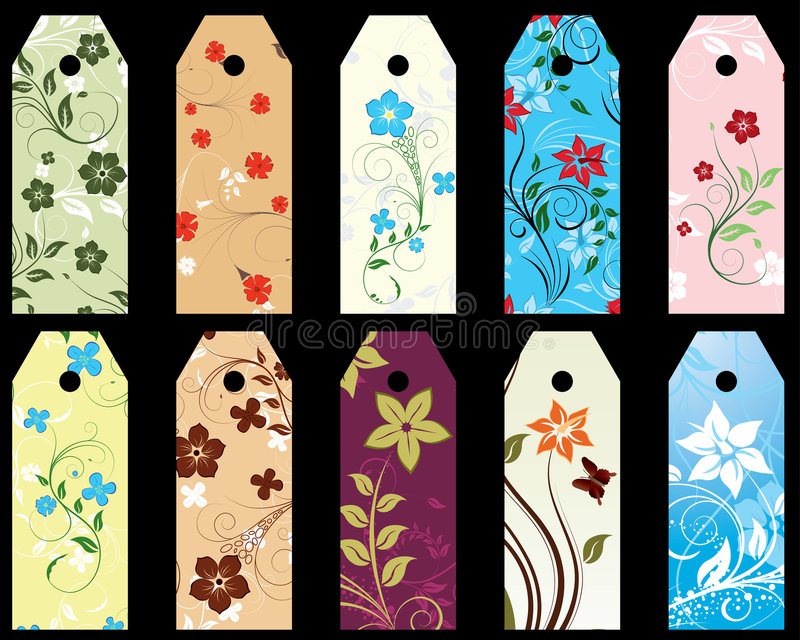 Blumenbookmark stock abbildung